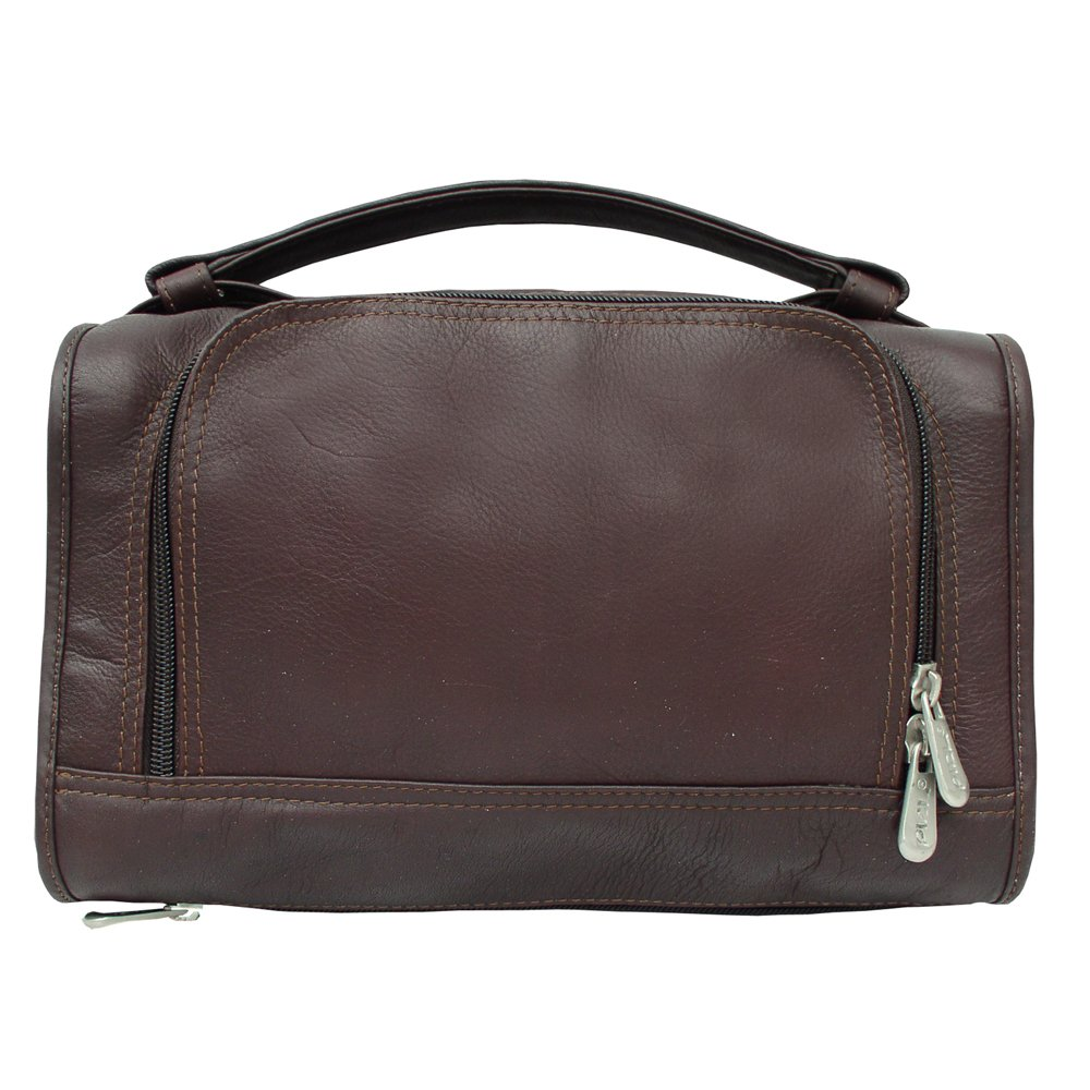 Chocolate One Size Piel Leather Luggage Half-Moon Utility Kit