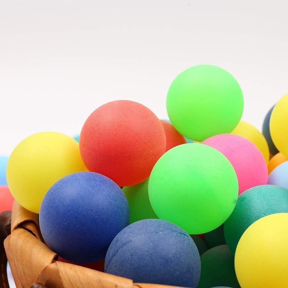 BIGTREE 100 Piezas Perros Gatos Juguetes Pelotas de Tenis de Mesa Pelotas de Tenis de Mesa Decoraciones Artesanías en Color Lotería Cerveza Pong Fiestas Favores Juegos acuáticos Multicolor
