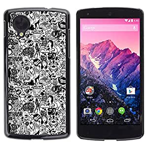 Qstar Arte & diseño plástico duro Fundas Cover Cubre Hard Case Cover para LG Google NEXUS 5 / E980 /D820 / D821 ( 1970 Woman Style Fashion Make Up Art)