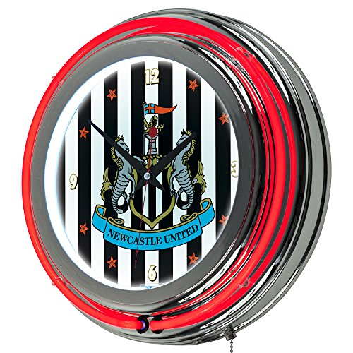 fan products of Premier League Newcastle United Chrome Double Rung Neon Clock