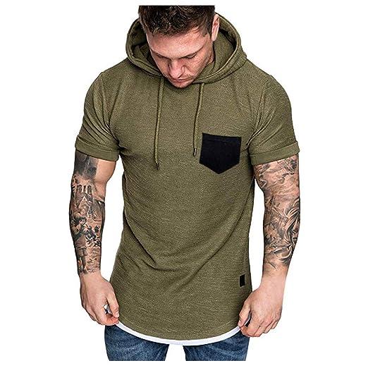 Amazon com: Men's Casual Summer Short Sleeve Crewneck Front Pocket T