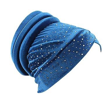 ALIKEEY Mujer Musulmana Sombrero Retro Turbante Sombrero Cabeza Bufanda Wrap Cap Cuadros USA Transpirable Cuero Gay Fieltro Tapa Cabello Piece: Amazon.es: ...