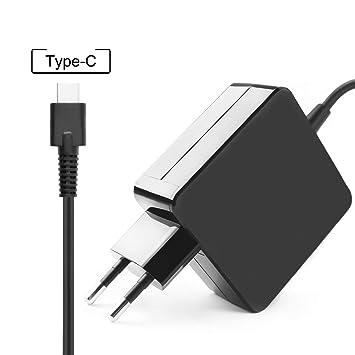 flgan 65W 45W Cargador Cable de carga para Lenovo USB de c ...