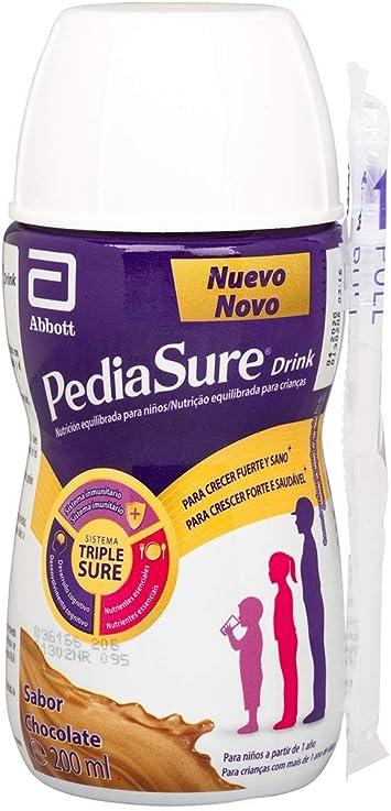 PediaSure drink – Batido para Niños, Sabor Chocolate, con Proteínas, Vitaminas y Minerales - Pack 4 botellas x 200ml: Amazon.es: Salud y cuidado personal