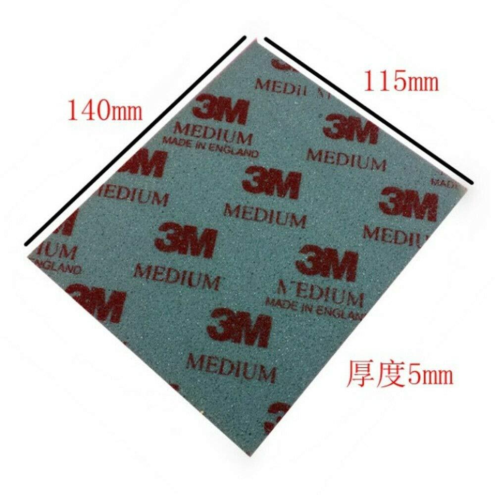 CCDZ 10pcs 3M 2600 2601 2602 2604 2606 for 3M Sponge Sandpaper Polishing Softback Sanding Superfine,Microfine,Ultrafine 113MM140MM (Red:2602(500#-600#))