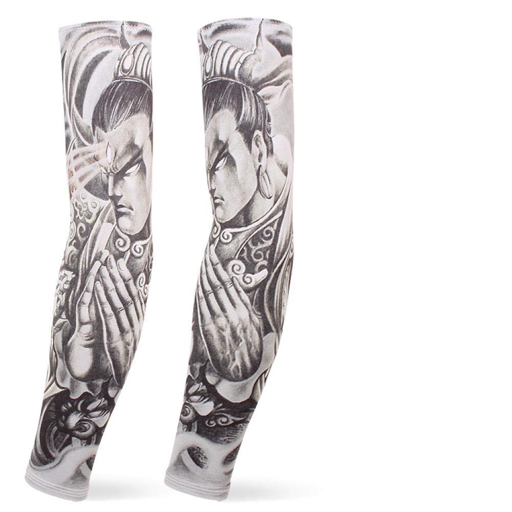 BFQCBFSG Hombre Mujer Simulación 3D Tatuaje Manga Montar Flor ...