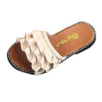 Amazon.com: Sandalias de bebe, dainzuy Niñas Kid volantes de ...