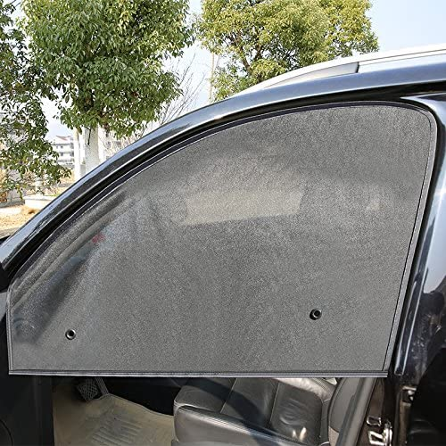 Black Car Curtains with Suction Cup MULSN 2pcs Magnetic Car Sun Shade Car Front Side Window Sunshade Car Sunshades Protector 2
