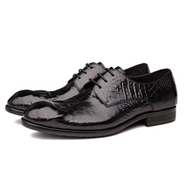 Amazon Com Hanmce Low Top Derby Shoes Genuine Leather Round Toe