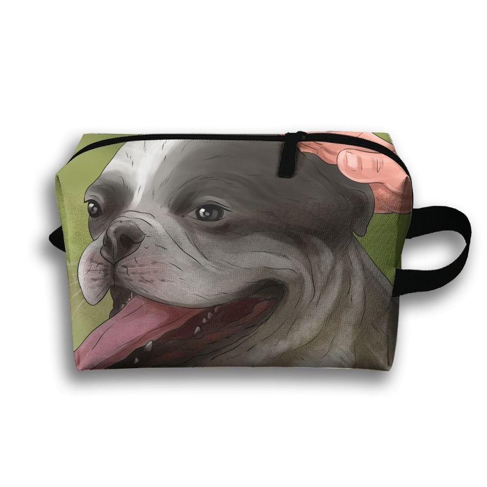 cbb93f5268ed 60%OFF Leisue Hug French Bulldog Dog Cosmetic Bag Zipper Makeup ...