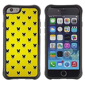 "Pulsar iFace Series Tpu silicona Carcasa Funda Case para Apple iPhone 6+ Plus(5.5 inches) , Ratón Negro Grande Orejas Mujer Wallpaper Pin Up"""