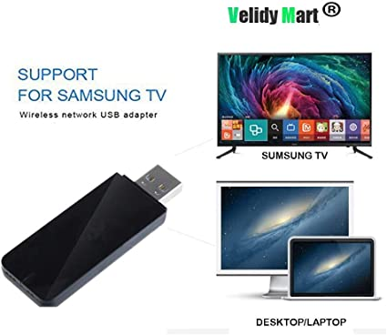 Adaptador Velidy Wi-Fi inalámbrico USB para televisión, 802.11ac de doble banda 2,4 GHz y 5 GHz, adaptador USB de red WiFi inalámbrico para smart TV Samsung WIS12ABGNX WIS09ABGN 300M: Amazon.es: Informática