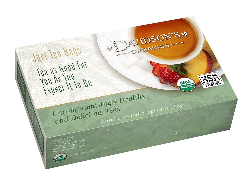 Davidson's Tea Bags, Organic South African Green Rooibos, 100 Count by Davidson's Tea
