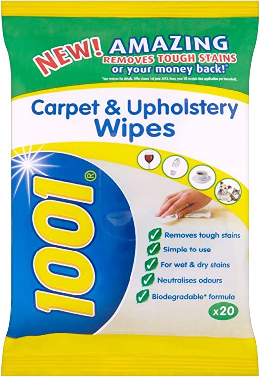 1001 Carpet Upholstery Wipes 20s X 6 Pack Size Amazon Co Uk Grocery