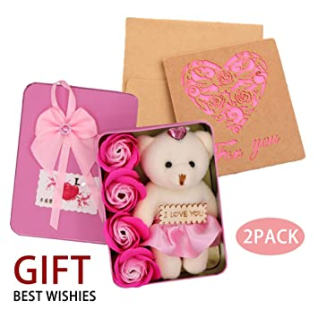 Amazon Forever Bath Soap Rose Flower With Cute Teddy Bear And