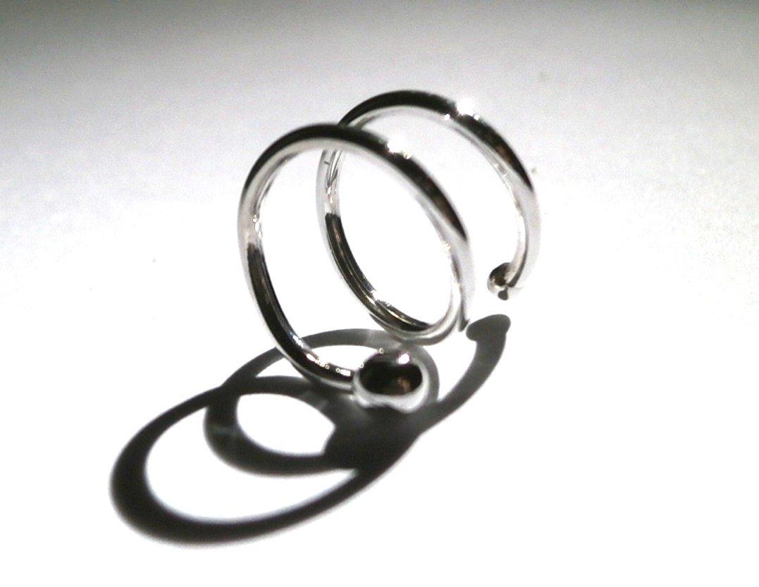 Hoop Earring Upper Earring Multiple Piercing 12mm Septum Earring Double Right Ear Piercing