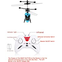 Magicwand Induction Type 2-in-1 Flying Indoor Helicopter with Remote for Kids