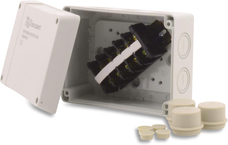 BoxEXPERT Bo/îtier en plastique S/érie Hanse 125 x 167 x 82 mm IP 54 Gris clair RAL7035