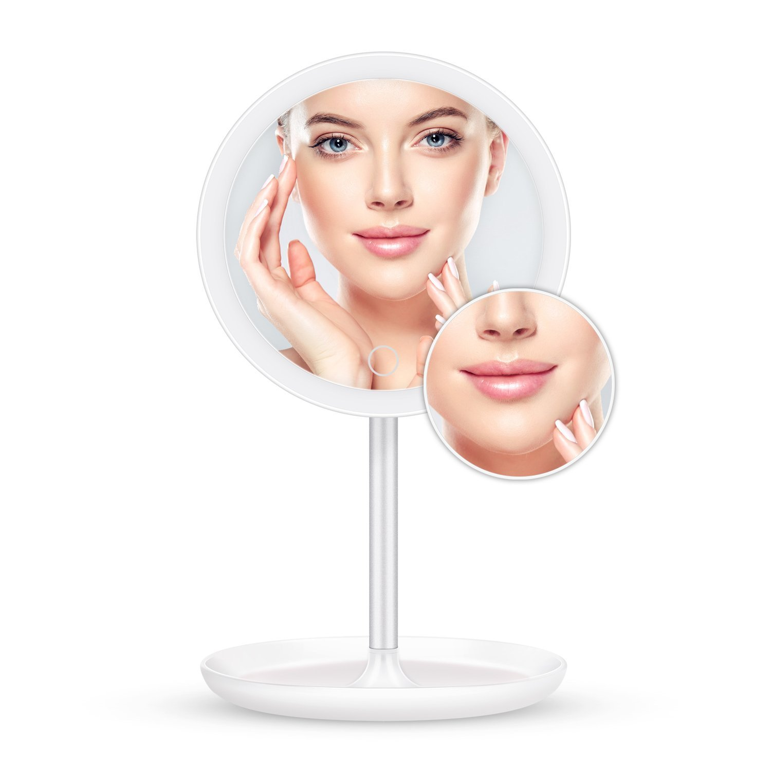 ELEHOT Led Makeup Mirror with 5x Magnifying Vanity Mirror Dressing Table Mirror Circle HISOA Direct