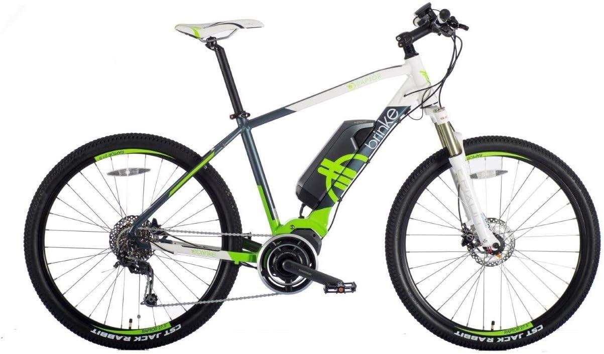 Brinke s de montaña Raptor 27.5 Bicicleta eléctrica Hombre Mujer Unisex Pedelec, E-Bike, Shimano Steps, MTB Rueda, 36 V 250 W 11.6 Ah Shimano batería de ión de Litio (46): Amazon.es: Deportes