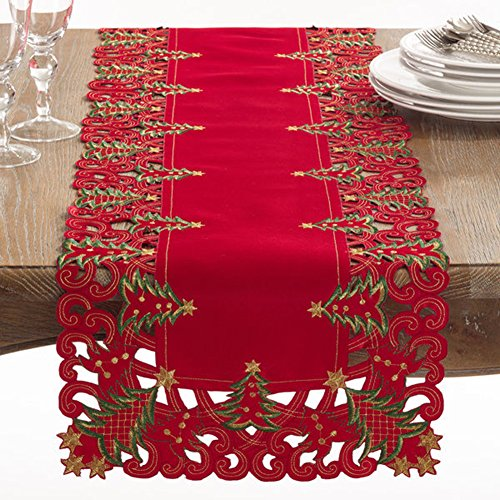 Fennco Styles Pandoro Collection Holiday Christmas Tree Table