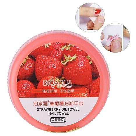Almohadillas de uñas, 32pcs almohadillas de removedor de esmalte de uñas, aceite esencial de