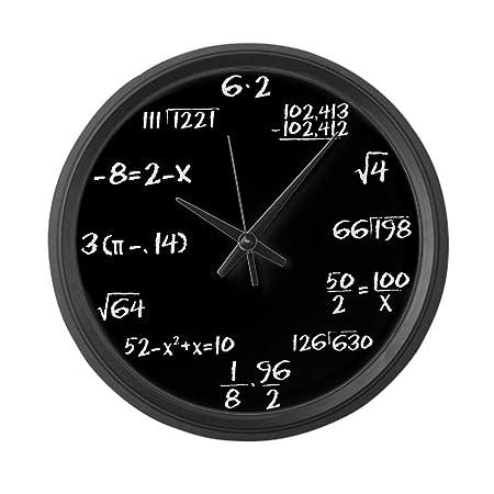 CafePress – Black Slate Math – Large 17 Round Wall Clock, Unique Decorative Clock