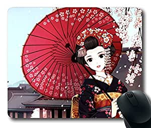 Design Beautiful Japanese Girl Mouse Pad Desktop Laptop Mousepads Comfortable Office Mouse Pad Mat Cute Gaming Mouse Pad