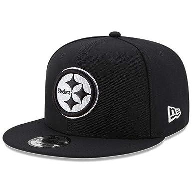 a4a0529e New Era 9Fifty Pittsburgh Steelers Black White Cap 950 Snapback at ...