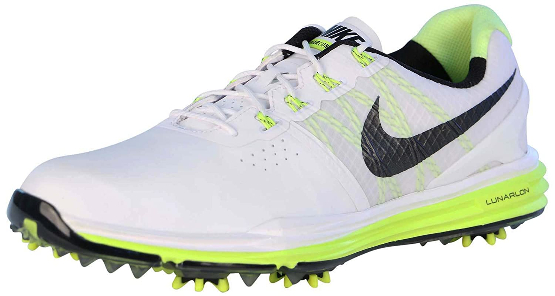 Nike Men s Lunar Control 3 Golf Shoes White Black Volt