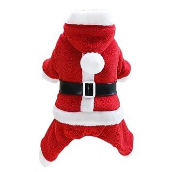 MagiDeal Ropa de Animlaes Domesticos Accesorios Estilo De Papá Noel Complimentos Vestido