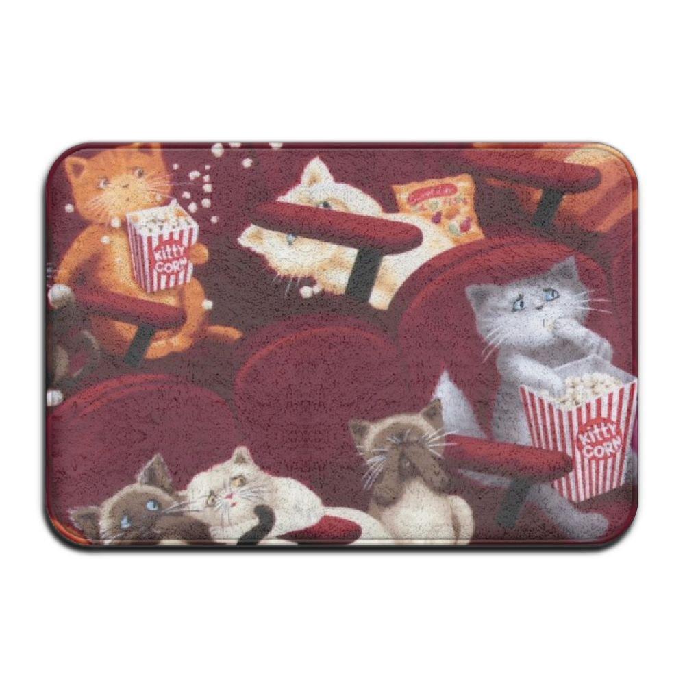 Movie Theater Cats Door Mats Outdoor Mats