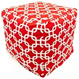 Majestic Home Goods Red Links Cube, Small