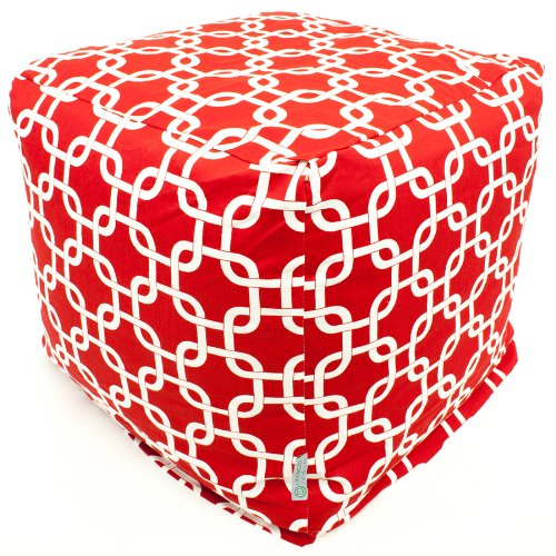 Majestic Home Goods Red Links Cube, Small by Majestic Home Goods