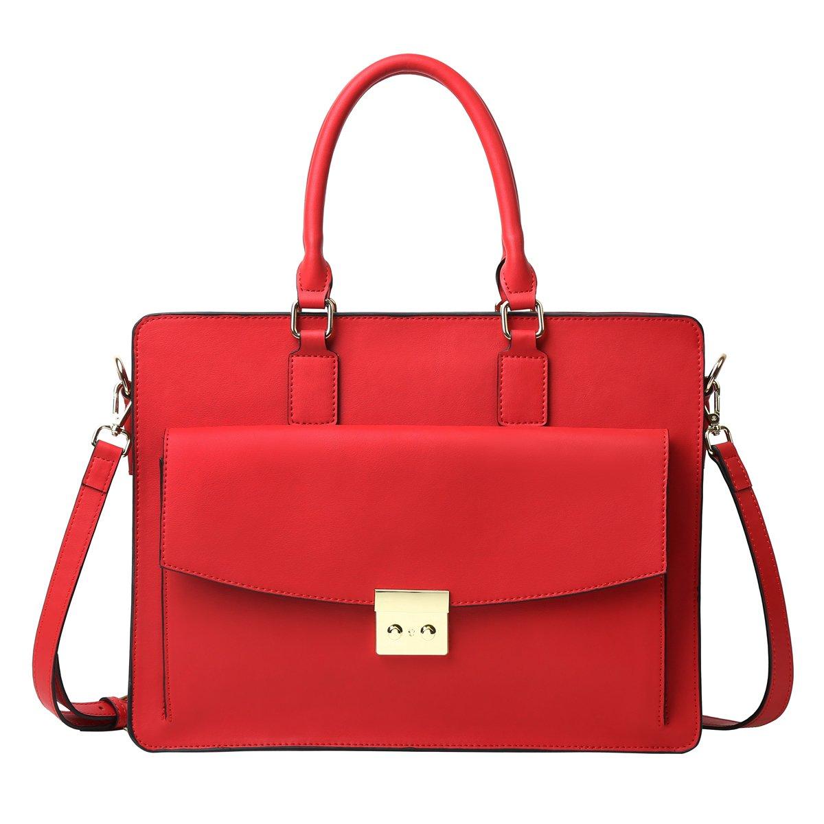 Leathario Damen Aktentasche Leder Umhängetasche Laptop Tasche 14 gut für Arbeit aus Rindsleder