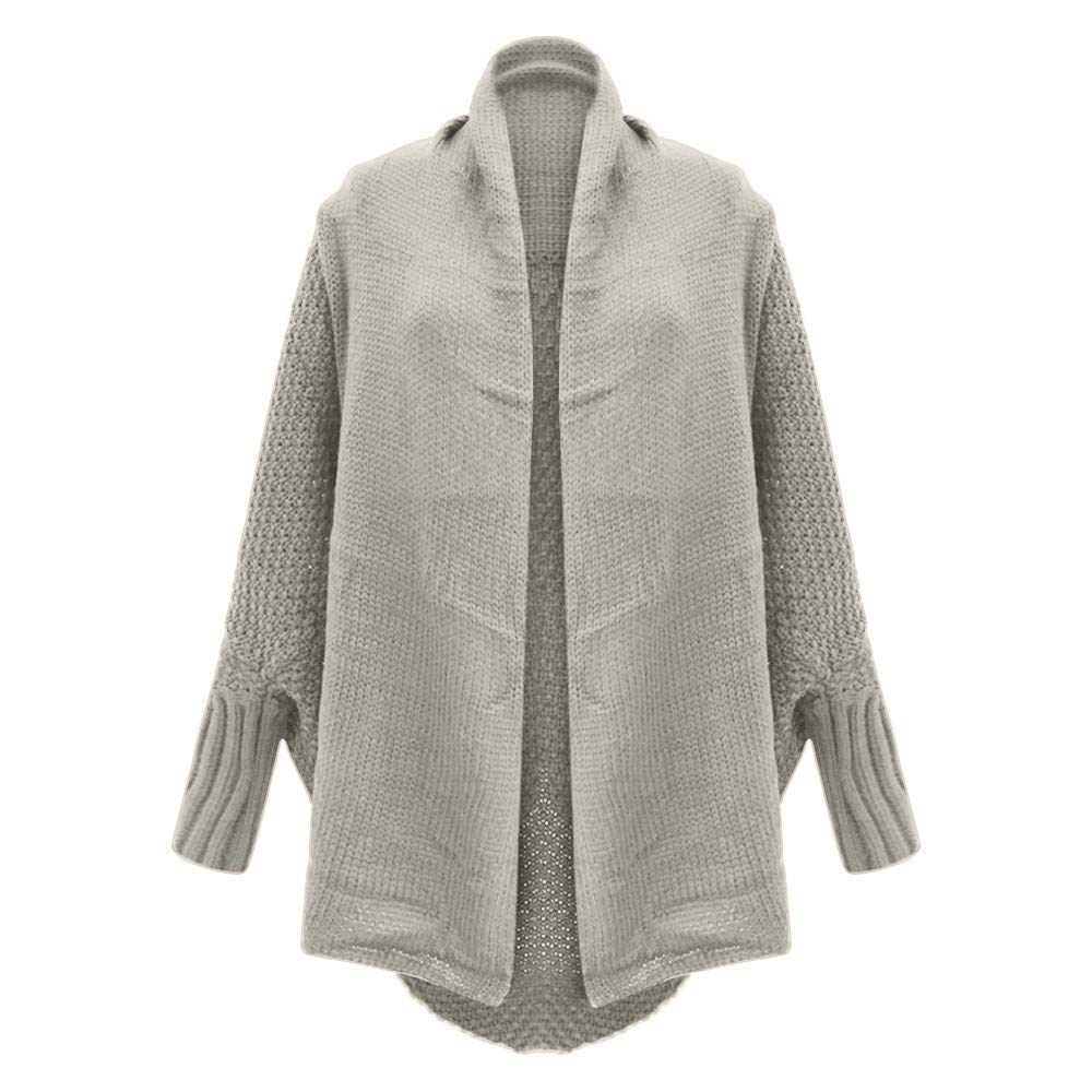 Knit Cardigan for Women,Oasisocean Womens Cardigan Sweaters Oversized Open Front Batwing Chunky Knit Outwear with Pocket