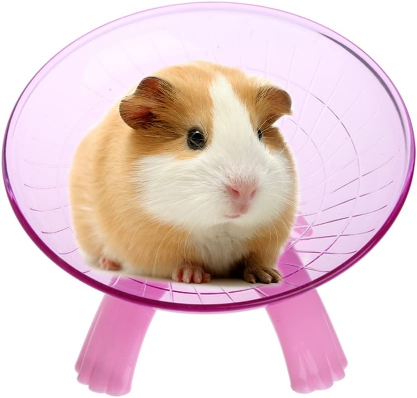 Allwway Durable and Practical Mouse Running Disc Toy Cage Accessories Pet Hamster Flying Saucer Exercise Wheel