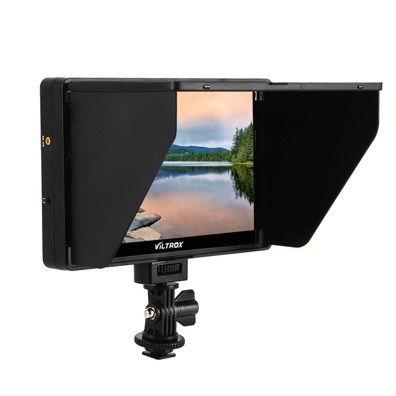 VILTROX DC-70HD 4K HDMI monitor Clip-on 7'' 1920x1200 IPS HD LCD Camera Video Monitor Display HDMI AV Input for Canon Nikon DSLR BMPCC , peaking / zooming / long-type sun shape / histogram by VILTROX