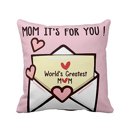 Buy Yaya Cafe Birthday Gifts For Mother Worlds Greatest Mom Cushion