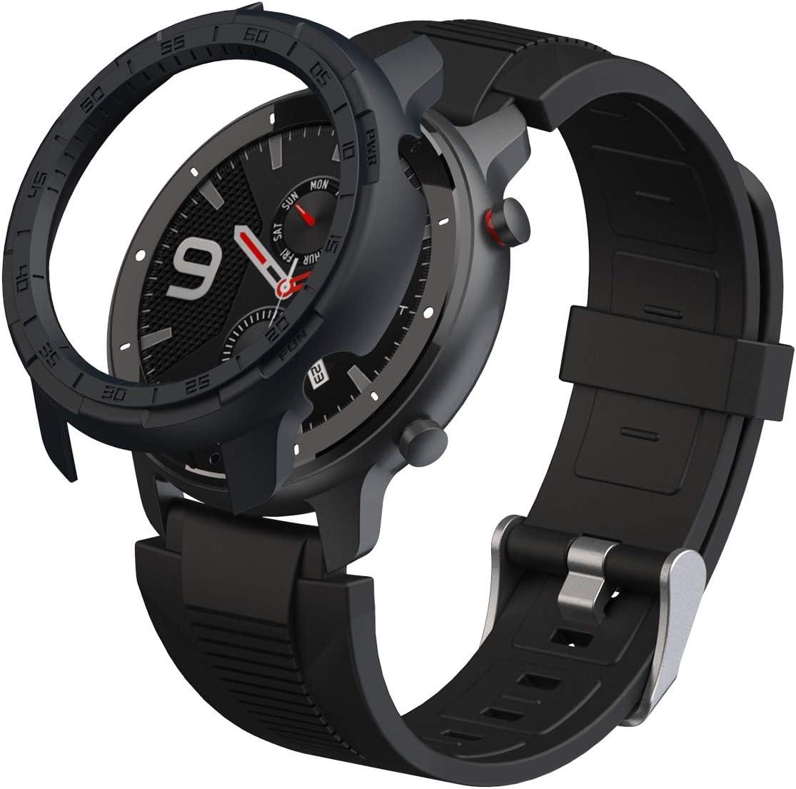 cadre en TPU r/ésistant aux rayures et aux chocs SIKAI CASE Coque de protection compatible avec Huami Amazfit Stratos A1928 Smart Watch