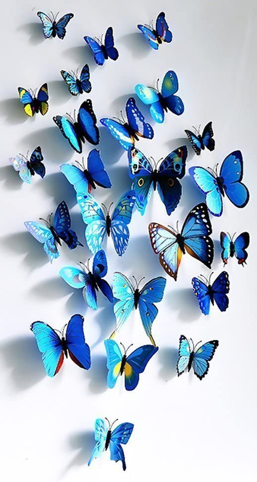 3D Blue Butterfly Love Wall Stickers Mural Decal Stickers Art House Decoration