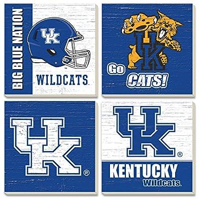 CounterArt Set of 4 Assorted Collegiate Absorbent Coasters, University of Kentucky