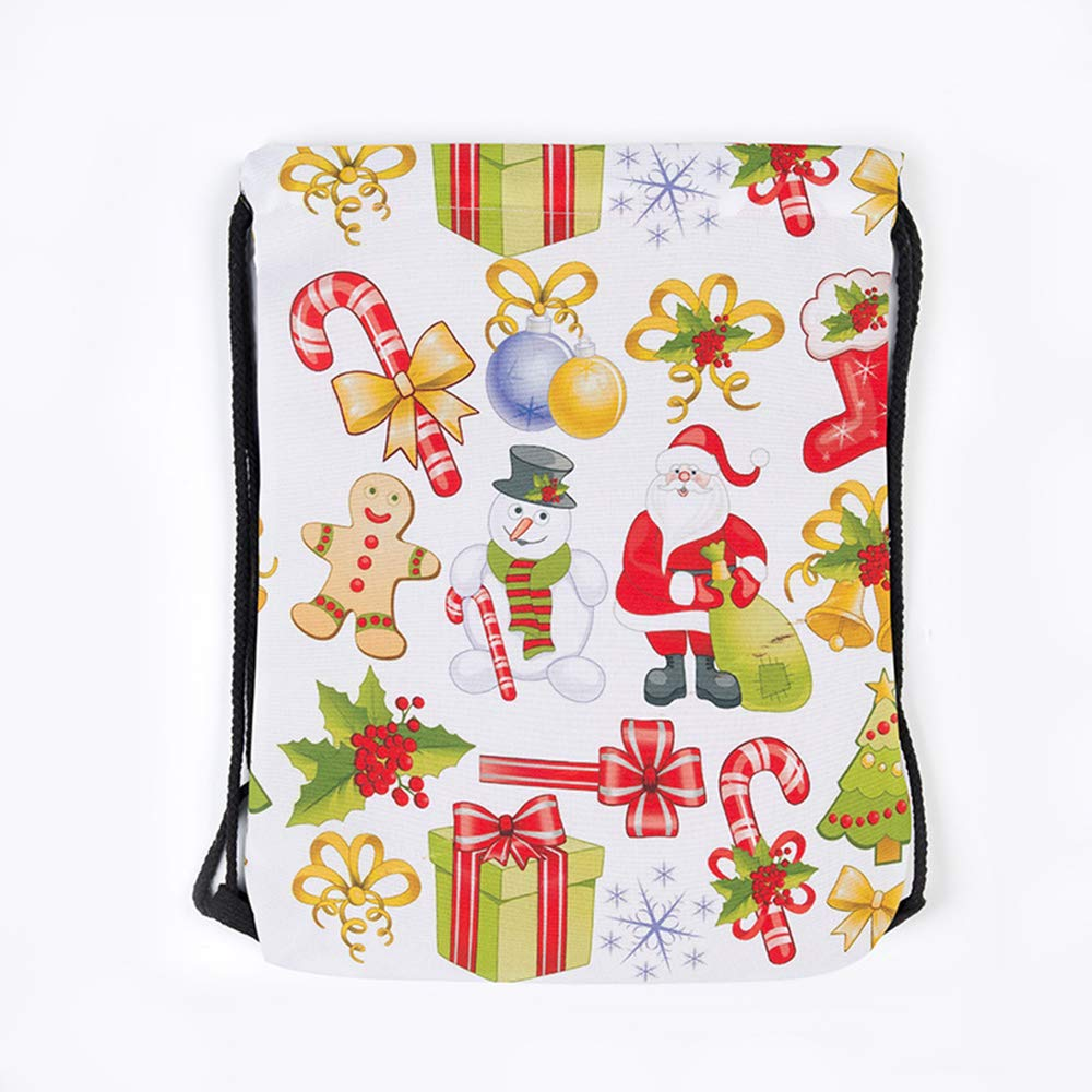 Xeminor Bags Drawstring Bags 3D Printing Backpack Santa Backpack for Party Favors Gifts and Candy by Xeminor (Image #6)