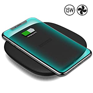 Wireless Charger, Nillkin 15W Qi-Certified Fast Charging Pad 10W/7.5W/5W [Cooling Fan] Compatible for iPhone Xs Max/XR/XS/X/8/8 Plus, Samsung Galaxy S9/S9+/S8/S8+/Note 9/Note 8/S7 and More Devices