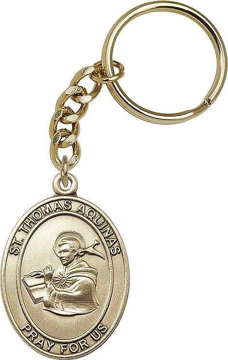 Amazon.com: Llavero con medalla de San Patrón católico de ...