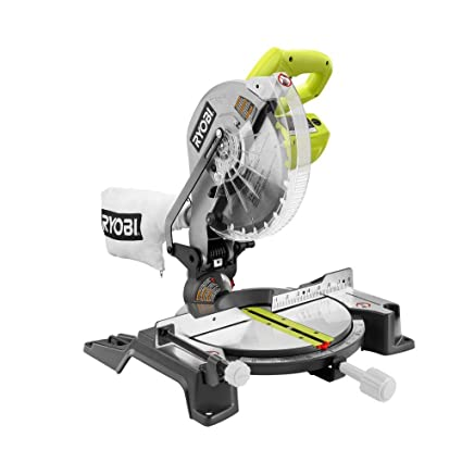 ryobi 14 amp 10 in compound miter saw in green amazon com