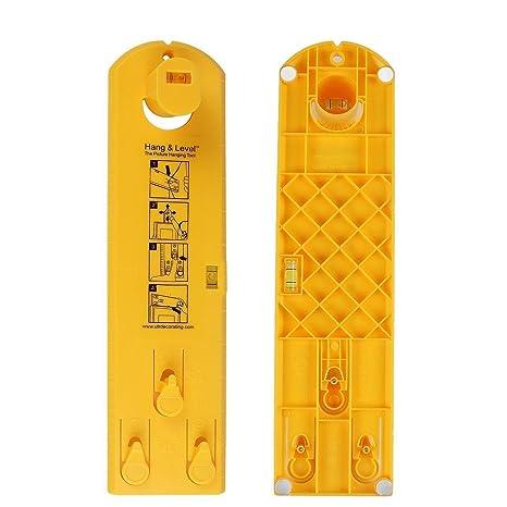 Hang and Level - herramienta horizontal para colgar, marcar y medir, con regla,