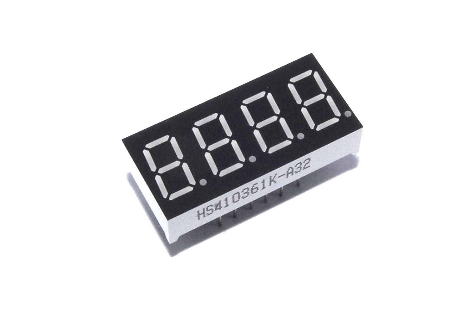 4 Digit Seven Segment Red LED Display 0.36' Cathode Arduino Pi Unbranded/Generic HS410361K-A32