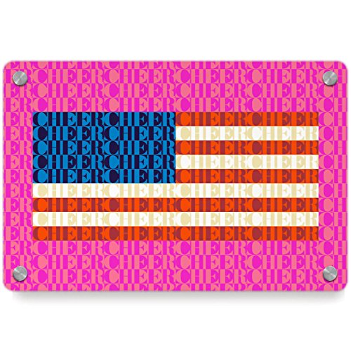 American Flag Mosaic | Cheer Metal Wall Art Panel by ChalkTalkSPORTS | Multiple Colors