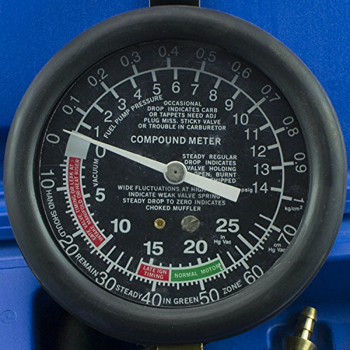 GEPCO Advanced Technology Fuel Pump & Engine Vacuum Pressure Gauge Leak Diagnostic Tool Tester Kit + Case by GEPCO Advanced Technology (Image #2)